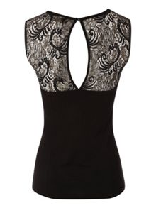 Sequin Lace Panel Top