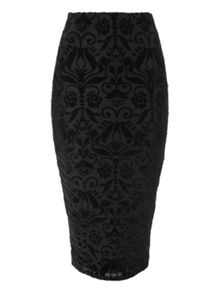 Devore Pencil Skirt
