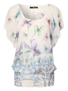 Colourful Butterfly Print Top