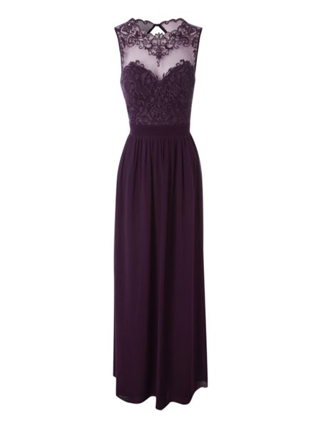 Jane Norman Embroidered front maxi dresss