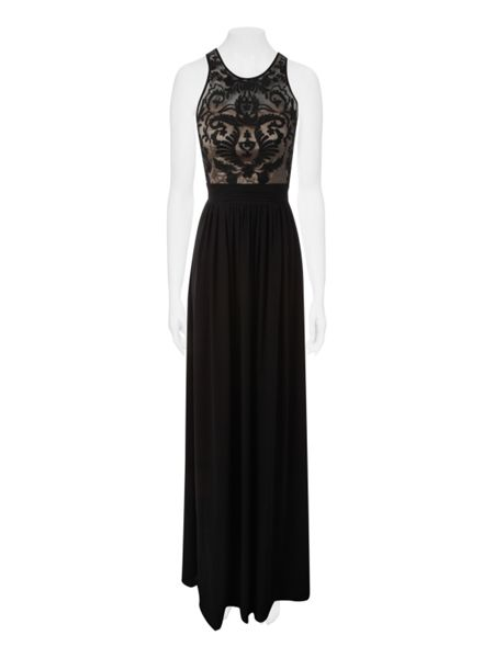 Jane Norman Embroidered top maxi dress