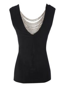 Chain Back Cowl Top