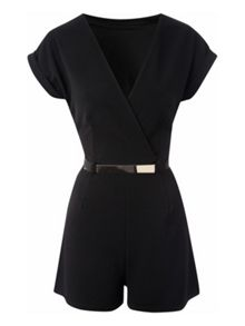 Belted Wrap Playsuit