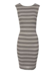 Stripe and Dot Bodycon Dress