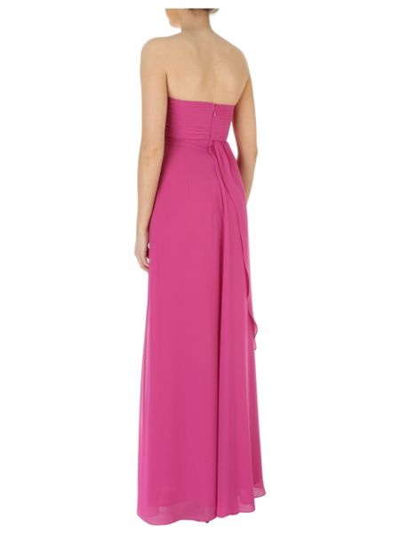 Jane Norman Pleated Bust Maxi Dress