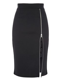 Zip Peek-a-boo Skirt