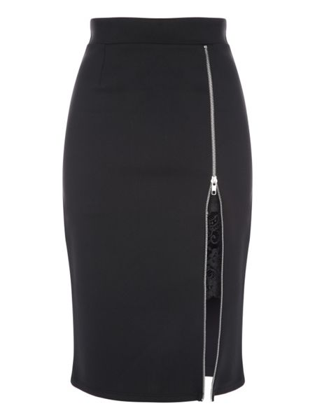 Jane Norman Zip Peek-a-boo Skirt