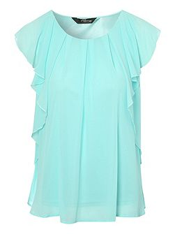 Frill shoulder blouse