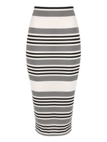 Jane Norman Striped Midi skirt