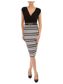 Striped 2 in 1 Dress