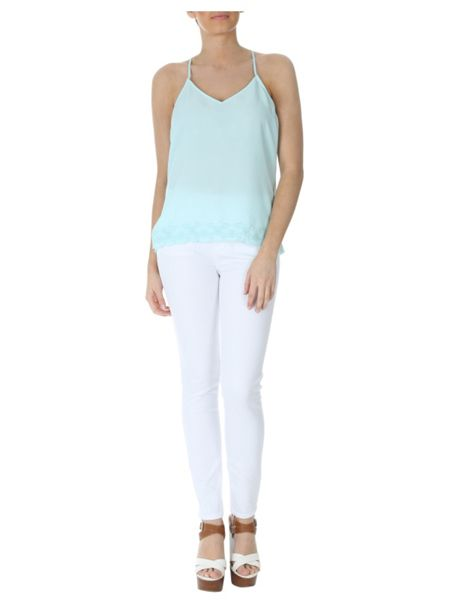 Jane Norman Crochet Racer Back Camisole