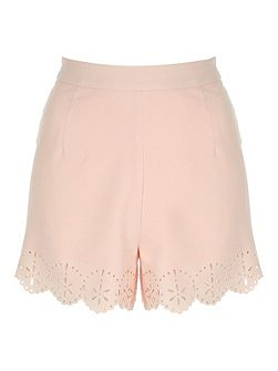Jane Norman Laser cut detail shorts