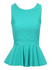Jane Norman Cross back peplum top