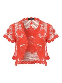 Jane Norman Flower Crochet Shrug