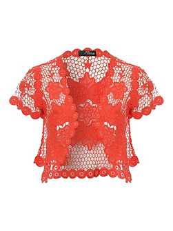 Flower Crochet Shrug