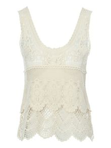 Jane Norman Crochet vest