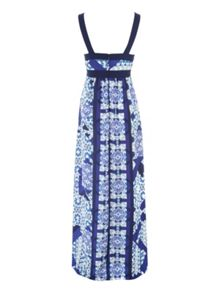 Jane Norman Blue Tile Maxi Dress