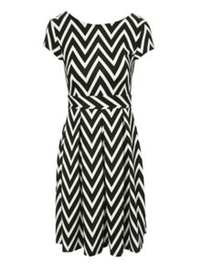 Jane Norman Zig zag skater dress