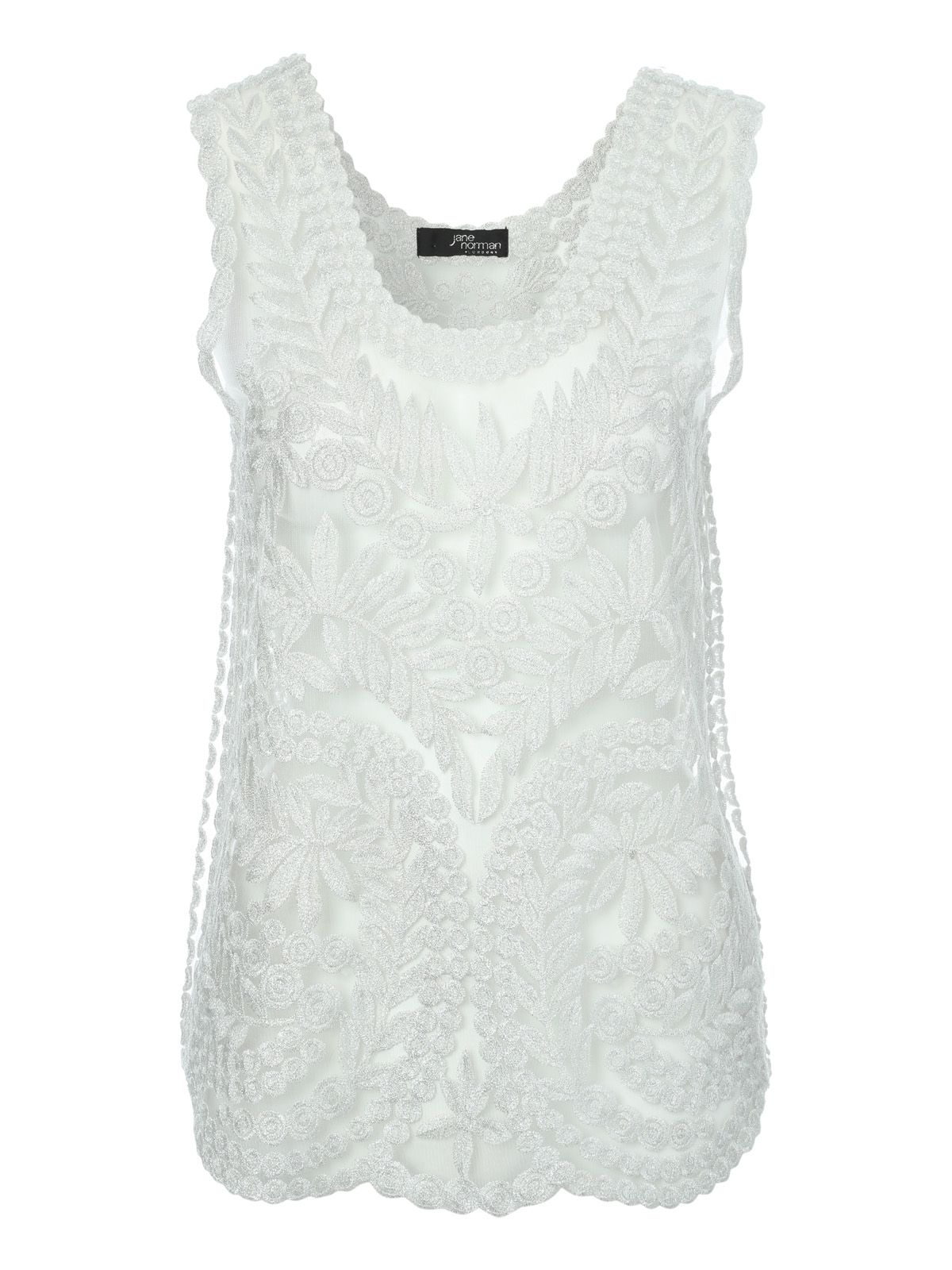 Jane Norman Lurex Crochet Top £25.00 AT vintagedancer.com