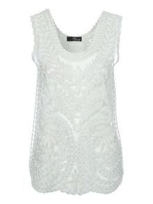 Jane Norman Lurex Crochet Top