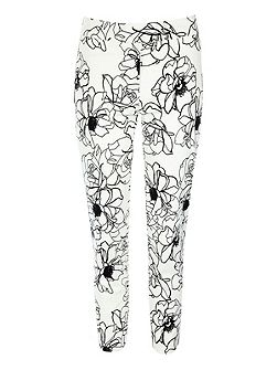 Floral tailored trousers
