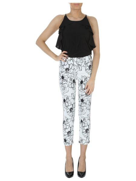 Jane Norman Floral tailored trousers