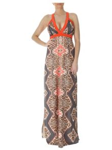 Jane Norman Keyhole back maxi dress