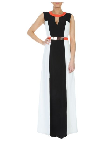 Jane Norman Belted Illusion Maxi Dress