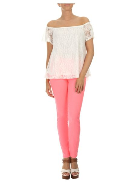 Jane Norman Off the shoulder Lace Gypsy Top