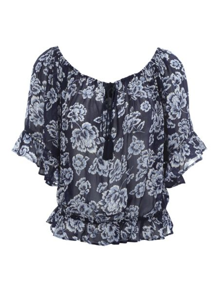 Jane Norman Floral print Gypsy Top