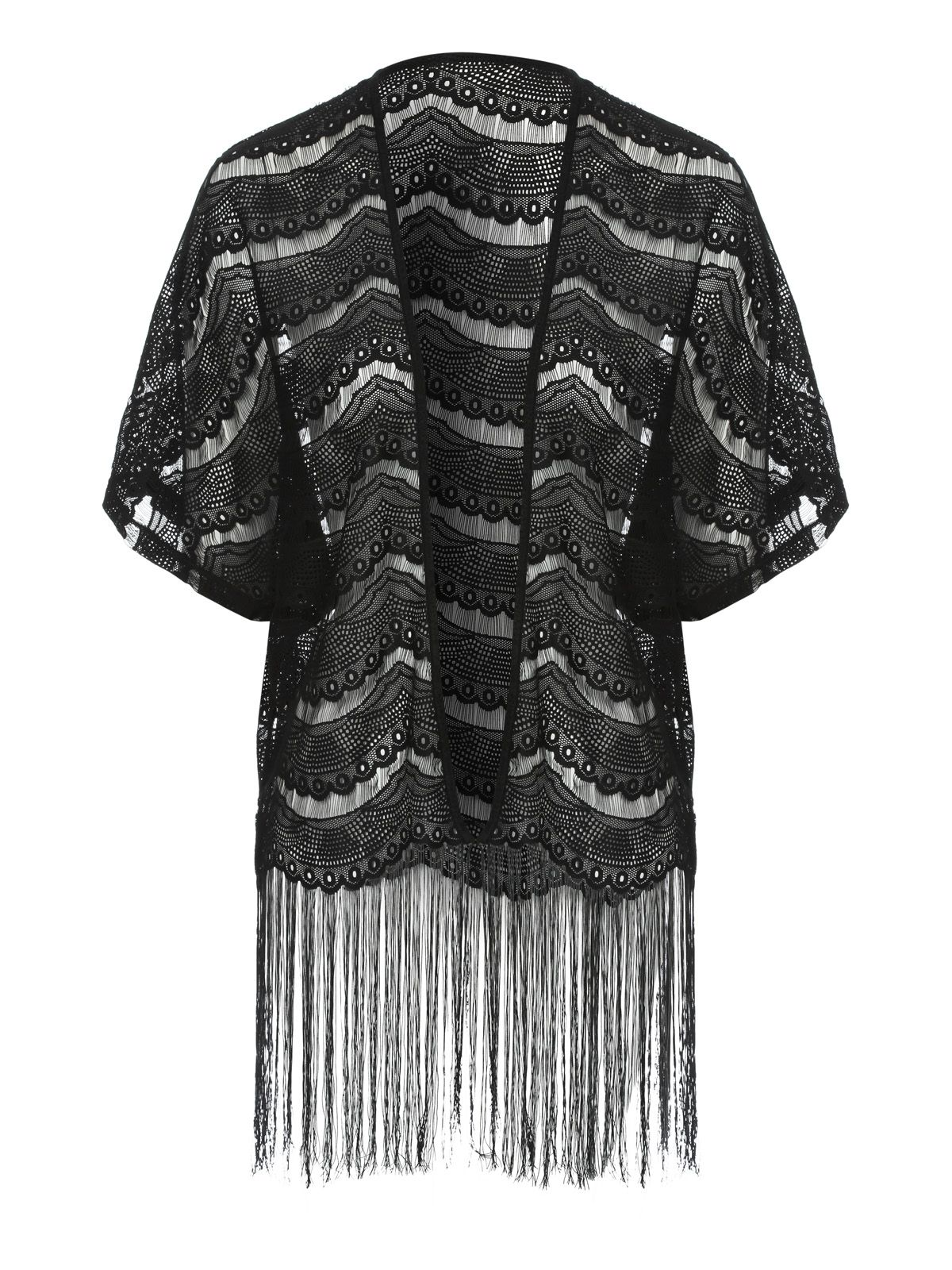 Jane Norman Fringe kimono $15.00 AT vintagedancer.com