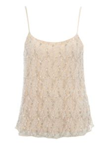 Beaded Lace Camisole Top