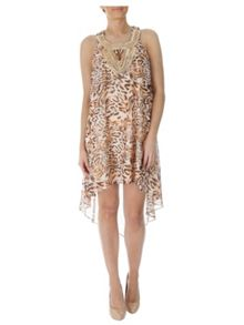 Jane Norman High Low Hem Leopard Print Dress