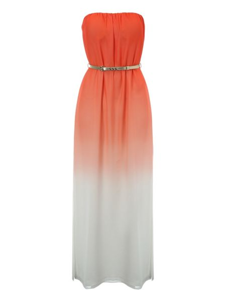 Jane Norman Belted Ombre Maxi Dress
