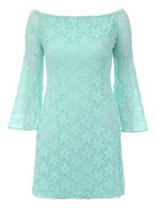 Jane Norman Off the shoulder lace dress