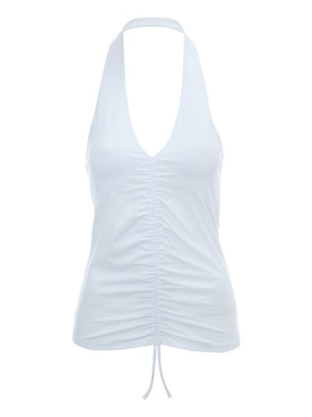 Jane Norman Ruched halterneck top