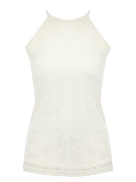 Jane Norman Racer Front Lace Top
