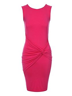 Knot detail bodycon dress