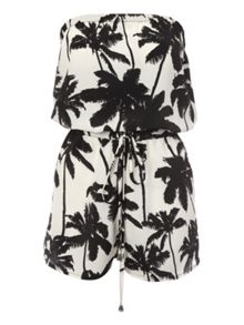 Printed Bandeau Playsuit