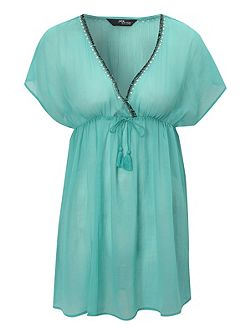 Jane Norman Beaded Trim Kaftan