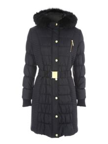 Jane Norman Longline Belted Padded Coat
