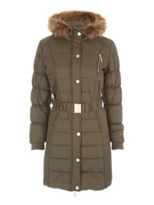 Longline Belted Padded Coat