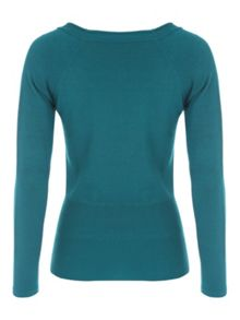 Jane Norman Scoop Button Jumper
