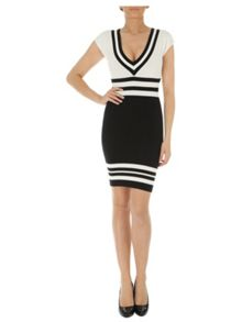 Mono Stripe Jumper Dress