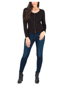 Jane Norman Black Essential Scoop Neck Cardigan