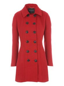 Fit & Flare Bow Back Coat