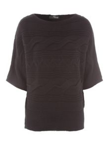 Jane Norman Batwing Cable Jumper