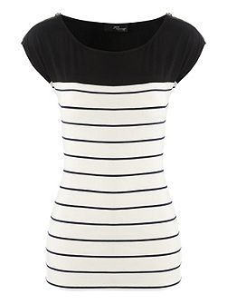 Zip Stripe Top