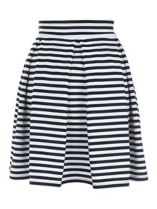 Jane Norman Stripe Skater Skirt