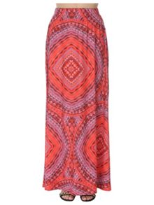 Jane Norman Tile Print Maxi skirt